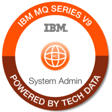 IBM MQ v9 Sys Admin badge