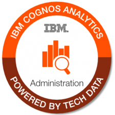 IBM Cognos Analytics Admin badge