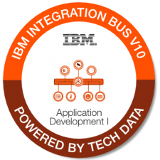 IBM Integration Bus V10 App Dev I badge
