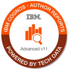 IBM Cognos Auth Rpts Advanced badge