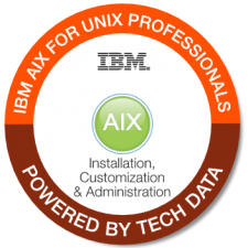 IBM AIX for UNIX Professionals badge