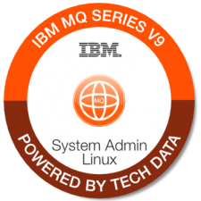 IBM MQ v9 Sys Admin Linux badge