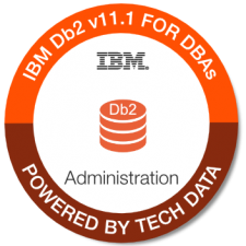 IBM Db2 V11.1 For DBAs Admin badge