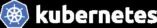 kubernettes logo white