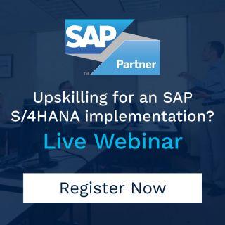 SAP hana s 4 webinar homepage